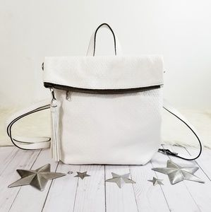 Patricia Nash Luzille backpack white woven leather